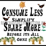 Consume Less Share More