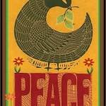 Peace bird leaf
