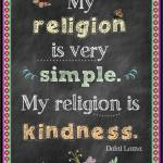 Religion Kindness blackboard