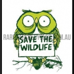 Save the Wildlife Green owl