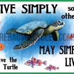 Live Simply Turtle