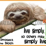Live Simply Sloth